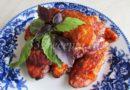 Куриная грудка в кляре с базиликом